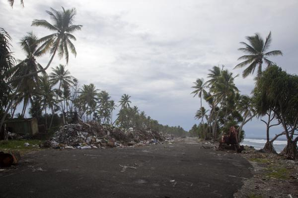 Picture of Fongafale islet (Tuvalu): At the north side of Fongafale, the road ends in a garbage dump