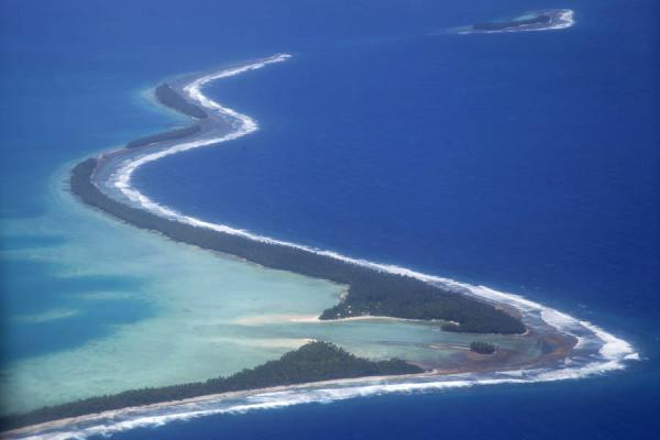Funafala seen from the sky | Isola di Funafala | Tuvalu