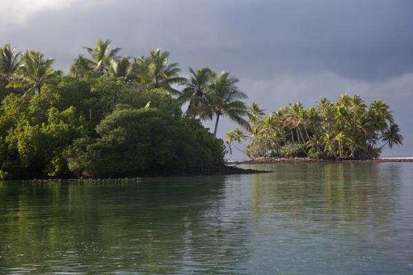 Picture of The southern side of Funafala islet with a tiny islet in the background - Tuvalu - Oceania