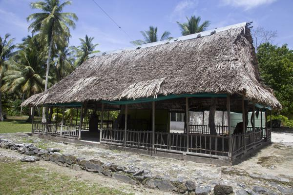 The maneapa on Funafala islet where community meetings are held | Funafala islet | Tuvalu