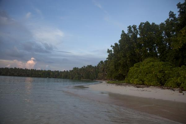 Picture of Late afternoon on the beach of Funafala isletFunafala - Tuvalu