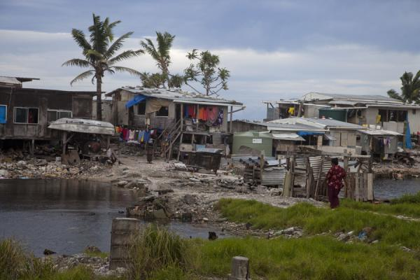 One of the shanty-towns of Vaiaku | Villaggio di Vaiaku | Tuvalu