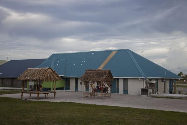 The airport building, very quiet most of the week | Villaggio di Vaiaku | Tuvalu