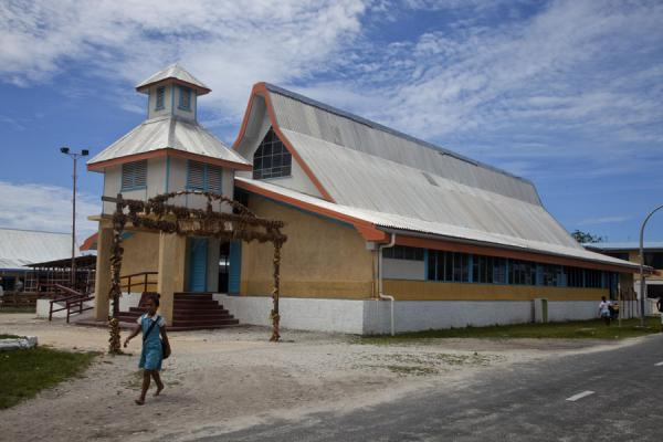 Photo de The main church of VaiakuVaiaku - Tuvalu