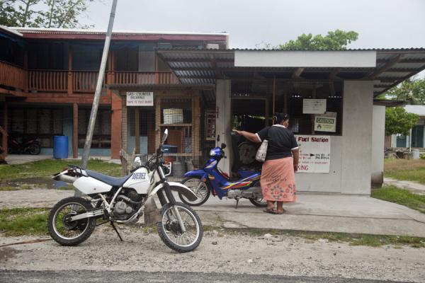 Fuel station in Vaiaku | Villaggio di Vaiaku | Tuvalu