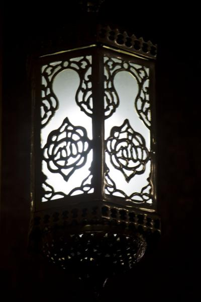 Picture of Gadhafi National Mosque (Uganda): Lantern near the mihrab in the main prayer hall