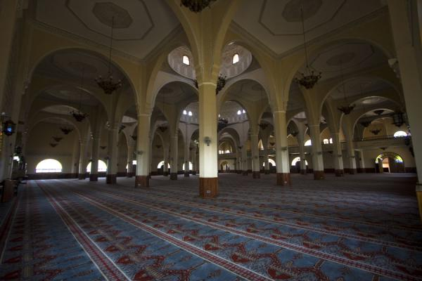The main prayer hall offering prayer space for some 7,000 muslims | Gadhafi National Mosque | Uganda
