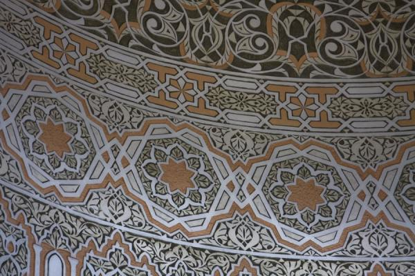 Close-up of the decorations on the ceiling of the mosque | Gadhafi National Mosque | Uganda