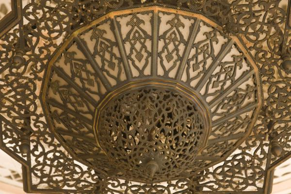 Picture of Gadhafi National Mosque (Uganda): One of the many lamps of the mosque in detail