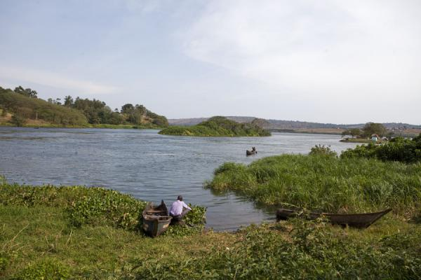 Picture of Jinja (Uganda): Landscape at the source of the Nile near Jinja