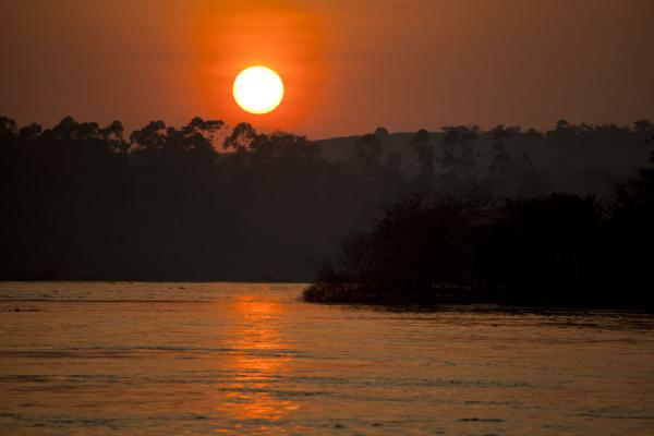 Sun setting over the Nile at Bujagali, north of Jinja | Jinja | Uganda