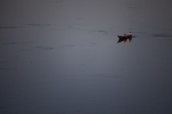 Picture of Jinja (Uganda): Early morning fish catching on the Nile near Bujagali