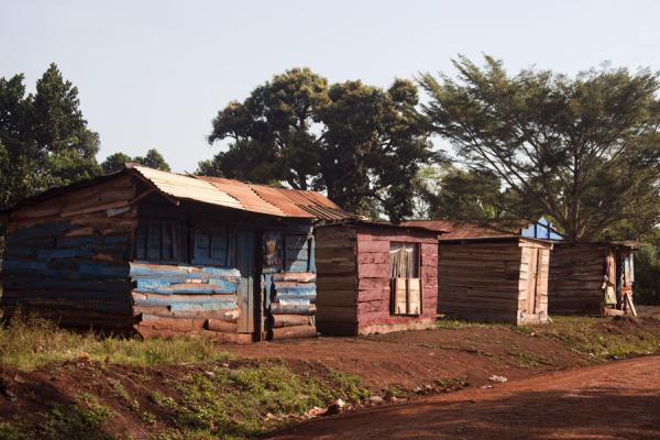 Picture of Row of wooden street stalls in Bujagali - Uganda - Africa