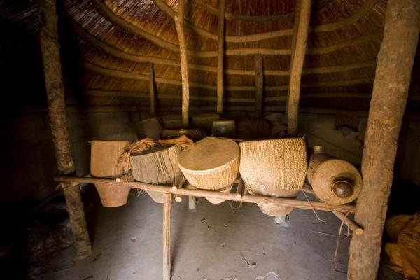 Interior of the Drum House or Ndoga Obukaba -