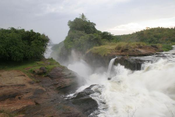 Picture of Murchison Falls (Uganda): Murchison Falls: water of the Nile squeezing itself through a narrow gap