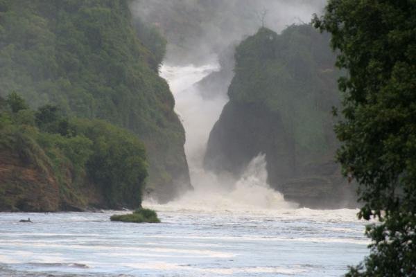 Picture of Murchison Falls (Uganda): Murchison Falls seen from a boat on the river Nile