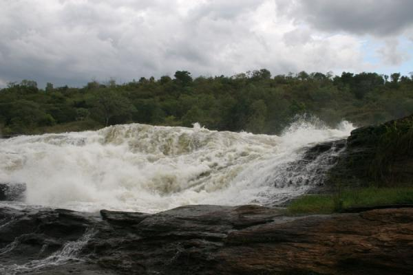 Water seeking a way down just before the gap of Murchison Falls | Murchison Falls | Uganda