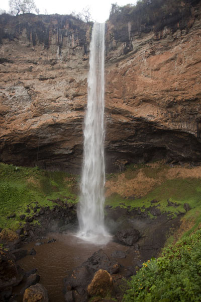 Frontal view of the lowest waterfall of Sipi | Sipi Falls |