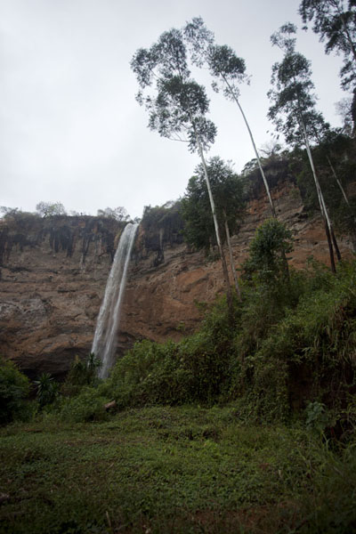Looking up the third waterfall from below | Sipi Falls | Uganda