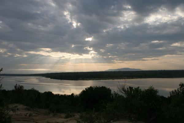 Picture of Cloudy sunrise over Kazinga Channel