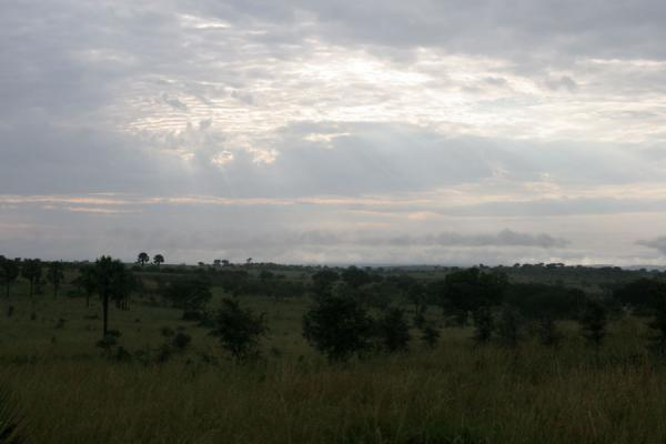 Sun filtering through a cloudy sky in Murchison Falls National Park | Uganda Light | Uganda