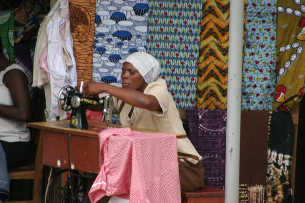 Woman sweing on her beautiful machine | Uganda people | Uganda