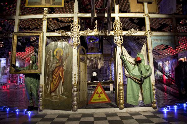 Picture of Chernobyl Museum (Ukraine): The main hall has a curious mix of the reality of the nuclear disaster with religion
