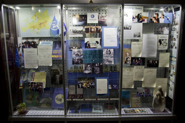Picture of Pictures, documents, books, flags and more on the disaster in the museumChernobyl - Ukraine