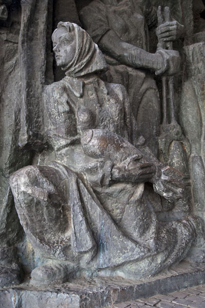 Picture of Detail of a sculpture depicting a war sceneKiev - Ukraine