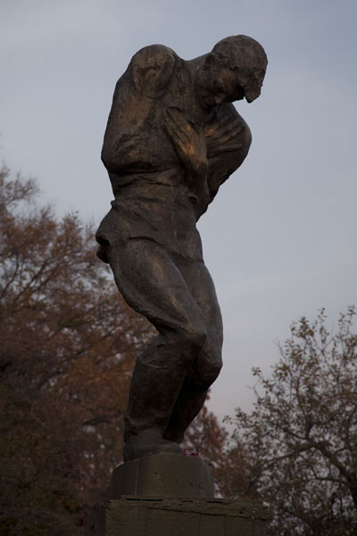 Picture of History of Great Patriotic War museum (Ukraine): Statue of suffering man in the park of the complex