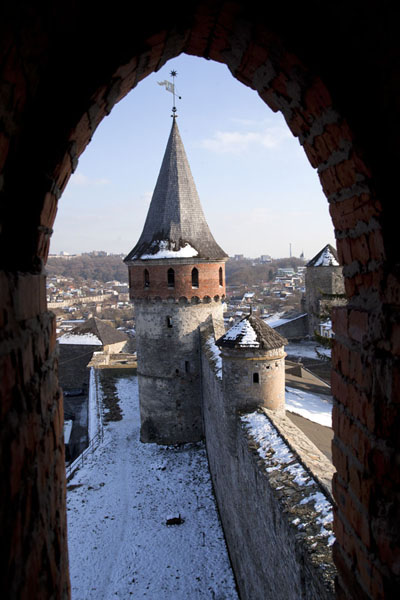 One of the towers of the fortress of Kamyanets-Podilsky | Kamyanets-Podilsky fortress | Ukraine