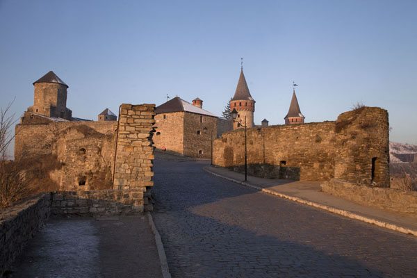 Morning view of the fortress of Kamyanets-Podilsky | Kamyanets-Podilsky fortress | Ukraine