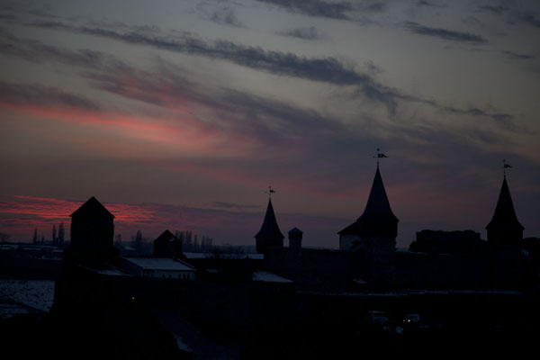 Foto di Sunset over the fortress of Kamyanets-PodilskyKamyanets-Podilsky - Ucraina
