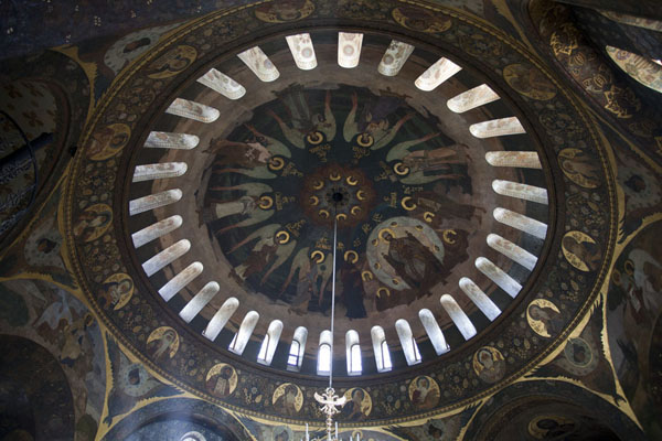 Picture of Cupola of the Refectory Church, in Byzantine style - Ukraine - Europe