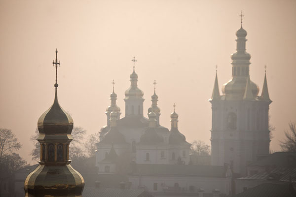 Foto di Spires and cupolas in the early morningKiev - Ucraina