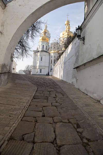 Stone alley leading up to the Upper Lavra | Kyiv Pechersk Lavra | Ukraine