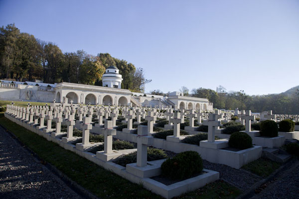 Foto van The Cemetery of the Defenders of Lviv in the eastern part of Lychakiv cemeteryDili - Oekraïne