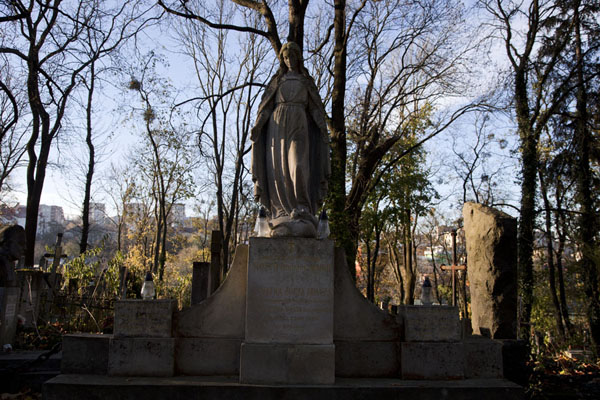 One of the hundreds of statues adorning a grave at Lychakiv cemetery | Lychakiv cemetery | Ukraine