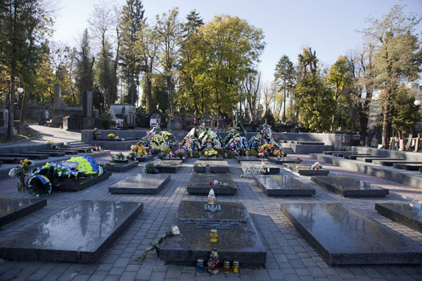 Picture of Modern section of Lychakiv cemetery at the main entrance - Ukraine - Europe