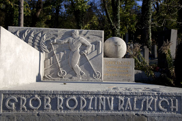 Tomb of a sportsman at Lychakiv Cemetery | Lychakiv cemetery | Ukraine