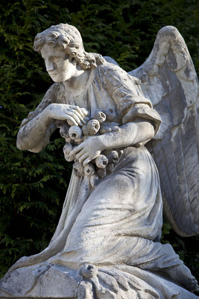 Statue of angel guarding over a tomb | Lychakiv cemetery | Ukraine