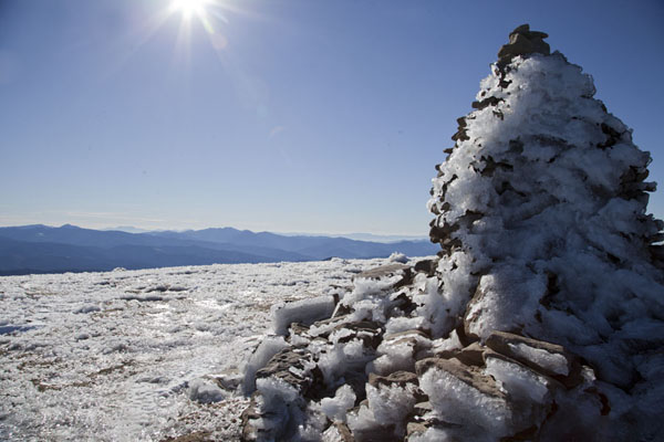 Icy view from the summit of Hoverla Mountain | Mount Hoverla | Ukraine