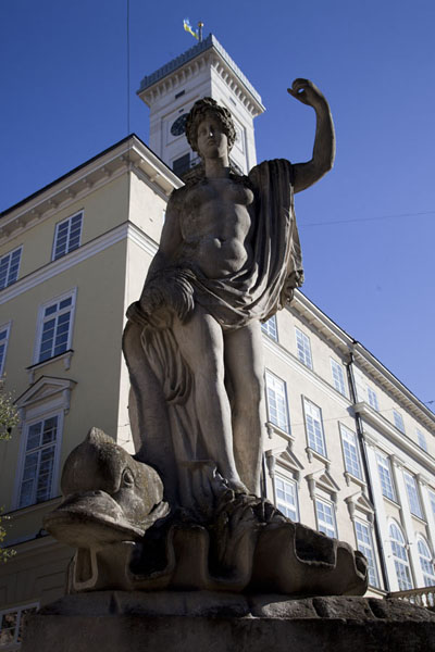 Picture of Statue of Amphitrite at one of the corners of Market SquareLviv - Ukraine