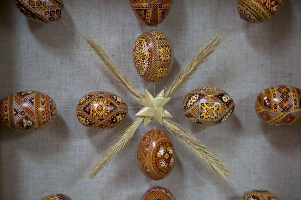 Close-up of painted easter eggs | Pysanka Museum | Ukraine