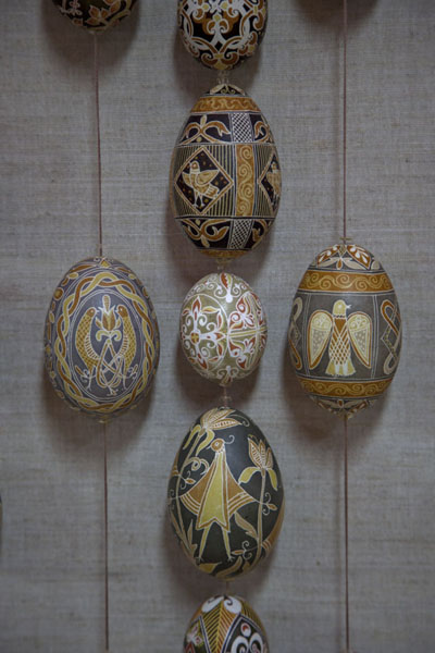 Close-up of several eggs | Pysanka Museum | Ukraine
