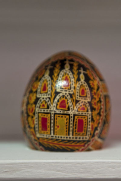 Pysanka, or Easter egg, decorated with a religious theme | Pysanka Museum | Ukraine