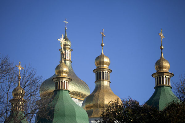 Five of the 13 cupolas of Saint Sophia cathedral | Cathédrale de Sainte Sophie | Ukraine