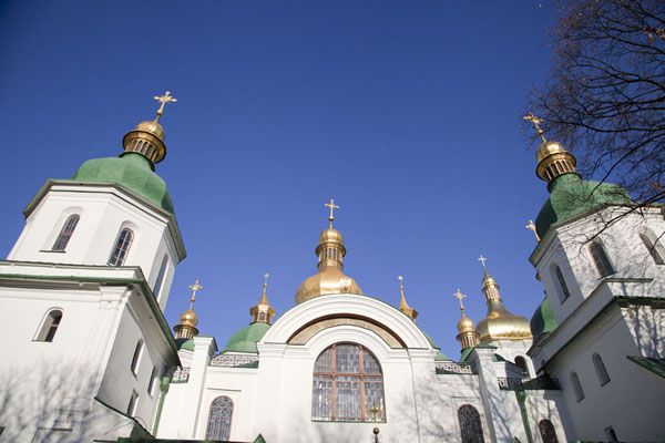 Foto van Sun shining on the western side of Saint Sophia cathedral - Oekraïne - Europa