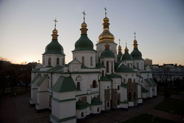 Looking at Saint Sophia cathedral from the bell tower | Saint Sophia Cathedral | Ukraine