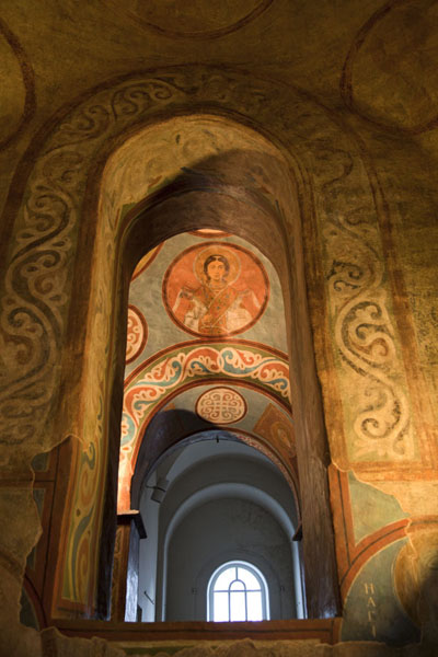 Foto di View of the interior of Saint Sophia cathedral, richly decorated with frescoesKiev - Ucraina